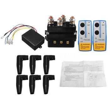 Kontaktor 500A Winch Remote Kit Solenoid Twin Nirkabel Memulihkan 12V Kualitas Tinggi