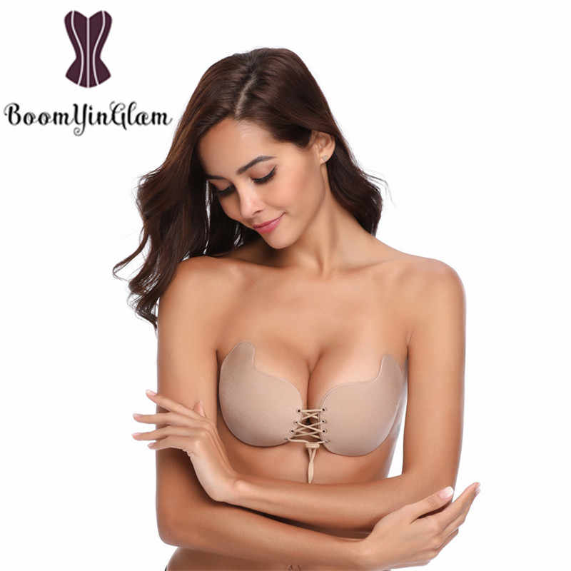 dc1a0f3973 Sexy Push Up Bra Silicone Bralette Invisible Strapless Adhesive Bras  Intimates Seamless Mango Shape Backless Bra
