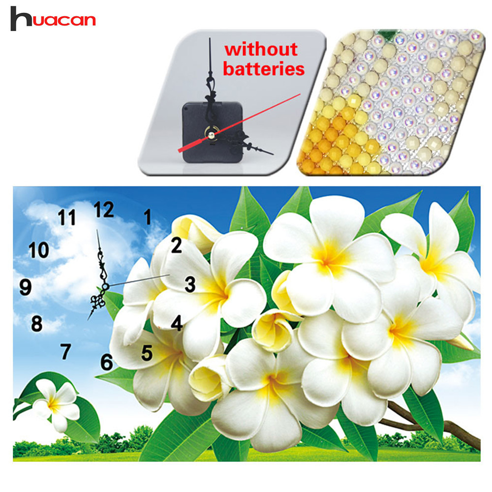 Huacan Special Shaped Diamond Embroidery Clock Mosaic 5D DIY Diamond Painting Arts And Crafts Room Decoration