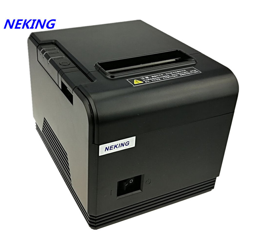 brand new 80mm thermal receipt bill printer automatic cutting machine printing speed Fast Supermarket retail store POS printer supermarket direct thermal printing label code printer