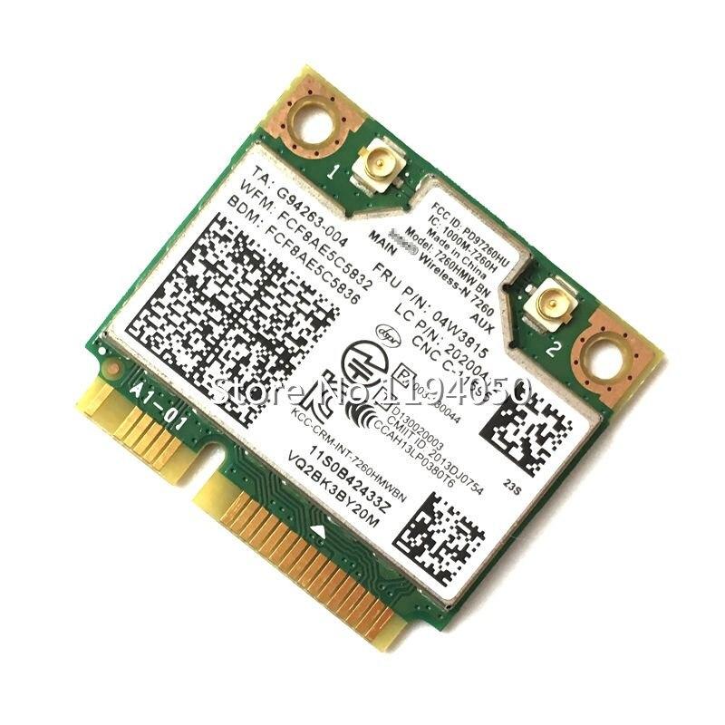 IBM Lenovo Thinkpad Intel Wireless-N 7260 7260HMW 300Mbps Wifi Bluetooth BT4.0 FRU:04W3815 04X6011