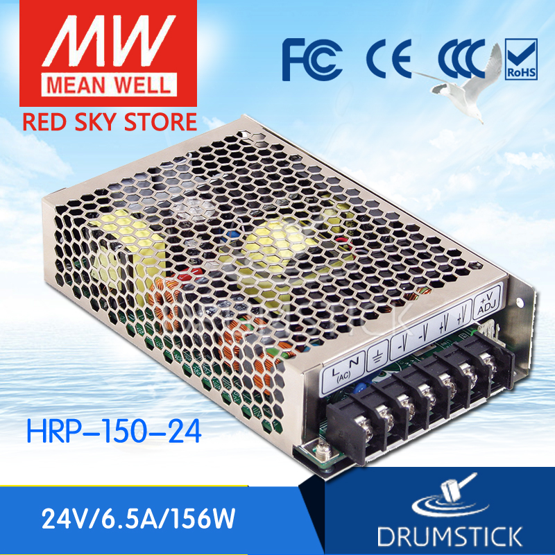 цена на Genuine MEAN WELL HRP-150-24 24V 6.5A meanwell HRP-150 24V 156W Single Output with PFC Function  Power Supply