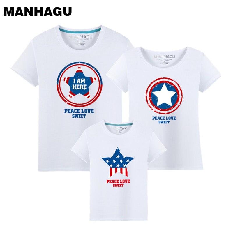 MANHAGU zomer bijpassende familie outfits ster familie look t-shirt - Kinderkleding