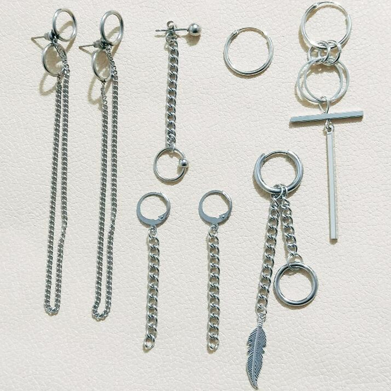 8 pcs set KPOP BTSARMY Bangtan Boys Album V DNA Stud Earrings Korean Fashion Jewelry Accessories For Mens And Womens Earrings in Stud Earrings from Jewelry Accessories