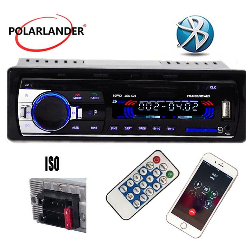 12V-bilstereo FM-radio MP3-ljudspelare inbyggd Bluetooth-telefon med - Bilelektronik