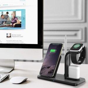 Image 5 - Bezprzewodowa ładowarka stojak na telefon do Apple Watch seria 4 3 2 IWatch Airpods Iphone 11 Pro Max XS MAX XR 8 Plus stacja dokująca
