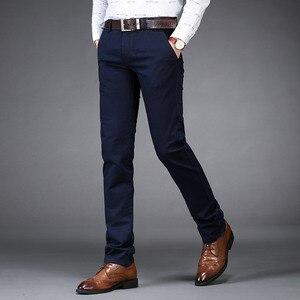 Image 3 - Nigrity新メンズカジュアル基本パンツビジネスズボンレギュラーストレートポケットクラシックなズボン男性ビッグサイズ28 42