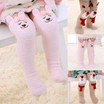 Chaussettes Hautes De Noël Hiver Chaud Bébé Fille