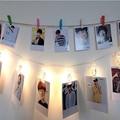 Tarjeta de clip de la Foto de Navidad Led cadena de luz 2 M 20led luces de hadas de la boda decoración del hogar 4.5 V 3xAA batería LED luz de la noche