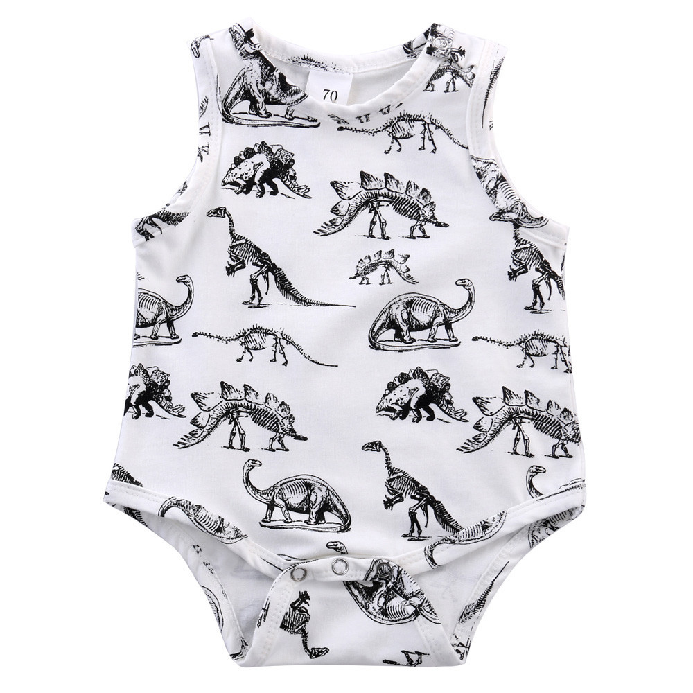 2017 New Arrival Newborn Infant Kids Baby Boy Girl Dinosaur Print Jumpsuit Romper Outfits Clothes
