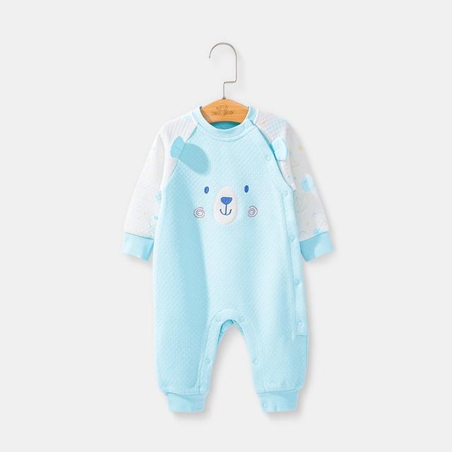 最高ジェーンブランド新生児の長袖ジャンプスーツ綿スーツ 2018 秋冬ベビーオールインワンロンパース漫画服