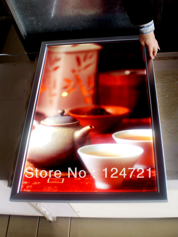 2014 Advertising Store Display LED Light Frame A3 Size Aluminum Snap Picture Frame Restaurant Menu Light Box