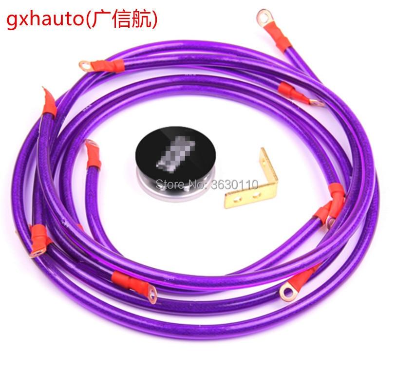 HK * Universal 5 Punkte Erde System Erdung Erdungskabel Kabel Kit ...