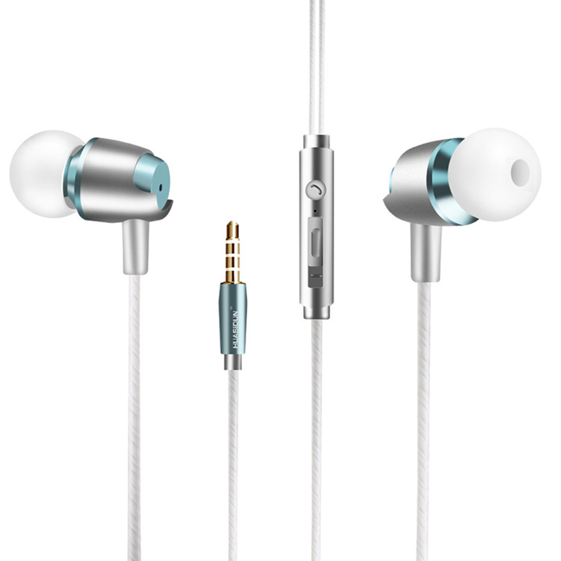 3.5MM Sport Stereo Bass Earphones Earbuds With Microphone Control For Xiaomi9 Huawei Samsung Iphone