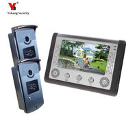 Freeship By DHL Hot Sell Home Intercom Wired 7 Doorphones Access Control 2 Cameras Door Camera