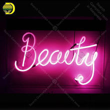 Beleza sinal de néon tubo vidro artesanato luz néon sinal recreação decoração do quarto icônico sinal luz néon anuncio luminoso guantee