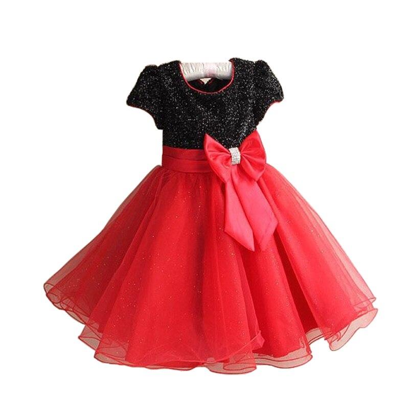 2016 nouvelle marque chaude mode princesse fille robe enfants bébé fille robe enfants vêtements robe filles Cosplay s'applique 3-10 âge - 4