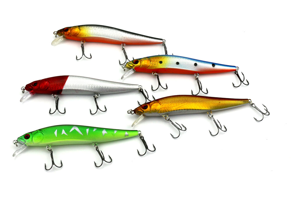 5 stks Zee vissen lokken isca Kunstmatige Minnow Bass Harde aas 3 - Visvangst - Foto 1