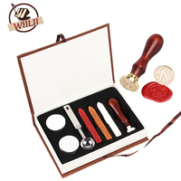1Set Personalized Stamp Seal Sealing Wax For Harry Potter Hogwarts School Vintage Classical Badge Kit Letter