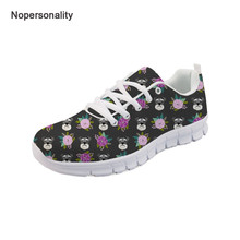 Nopersonality Floral Schnauzer Dog Sneakers for Women Casual Breathable Female Ladies Mesh Flats Lightweight Ladies Flats embroidered floral mesh flats black