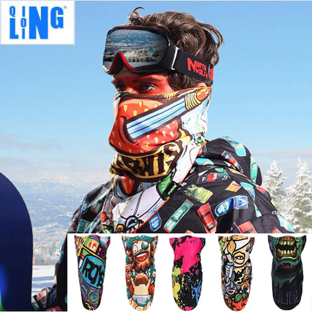 Thermal Winter Ski Snowboard Face Mask Windproof Men Women Fleece Cycling Half Face Mask Bike Bicycle Sport Mask