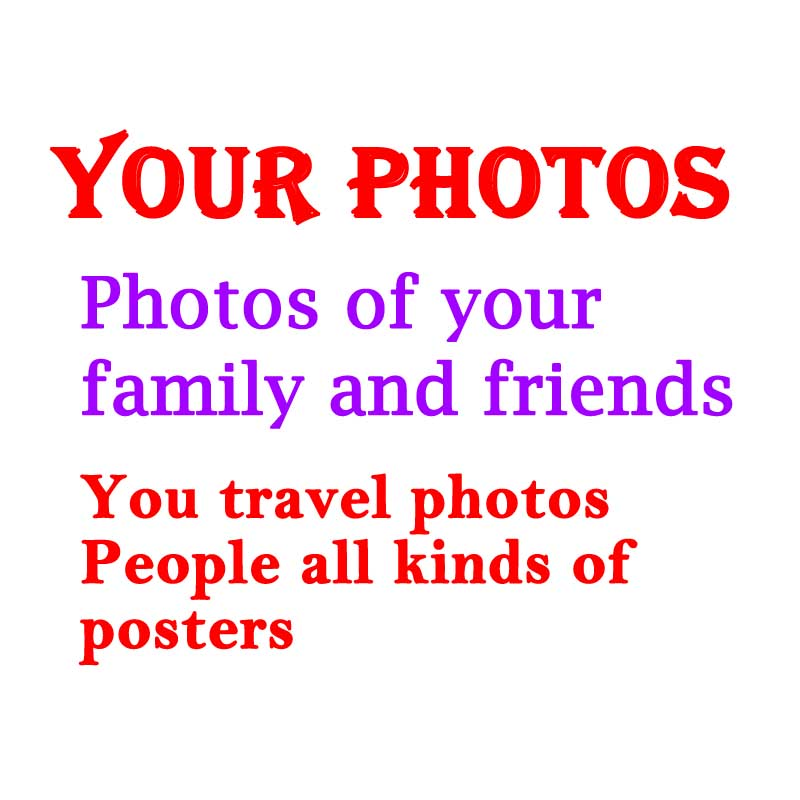 "Buy Online  Customize your favorite photos People Scenery Animals All pictures Poster Custom Fabrics(24""-100"")"