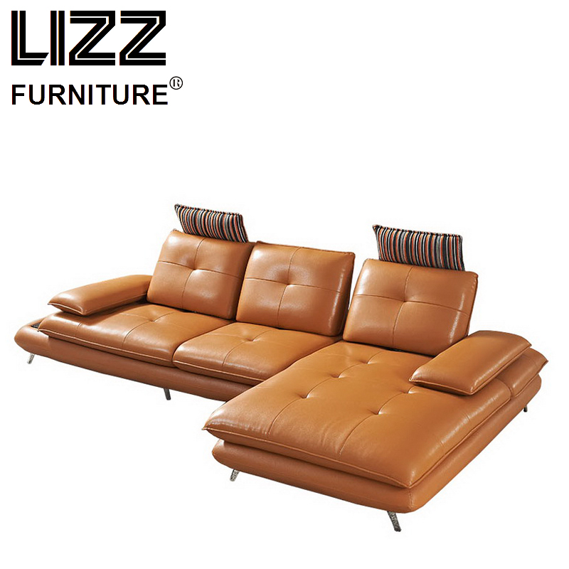 Luxury furniture set genuine leather sofas for living room for Luxury living room sofa