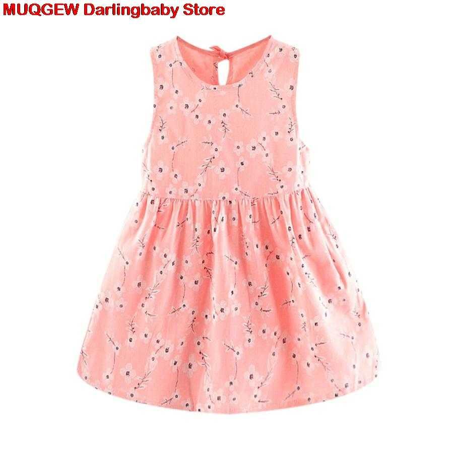 303d7d44f ... Recién nacido Ropa bebé vestido niña ropa flor imprimir princesa Casual  moda lindo hermoso traje Sundress