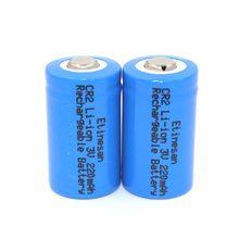 2 sztuk/partia Etinesan 15266 według wskazań przyrządów (IFR CR2) 3 V 220 mah akumulator litowo-jonowy baterie LiFePo4 baterii bezpieczne