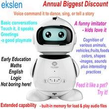Ekslen Смарт раннее образование Обучающий робот с распознаванием голоса имитация история рассказчик потешки подарок для детей