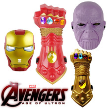 Thanos mask iron man diamond glove  Iron Man Mask Halloween costume The avengers 4 Festival party props