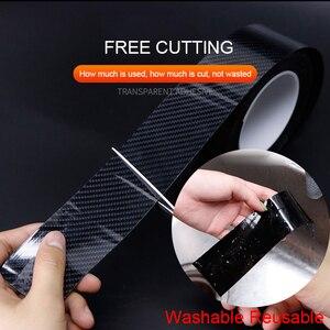 Image 2 - 5D Auto Aufkleber Carbon Fiber Vinyl Wasserdicht Film Autos Tür Sill Stamm Stoßstange Protector Aufkleber und Abziehbilder Zubehör