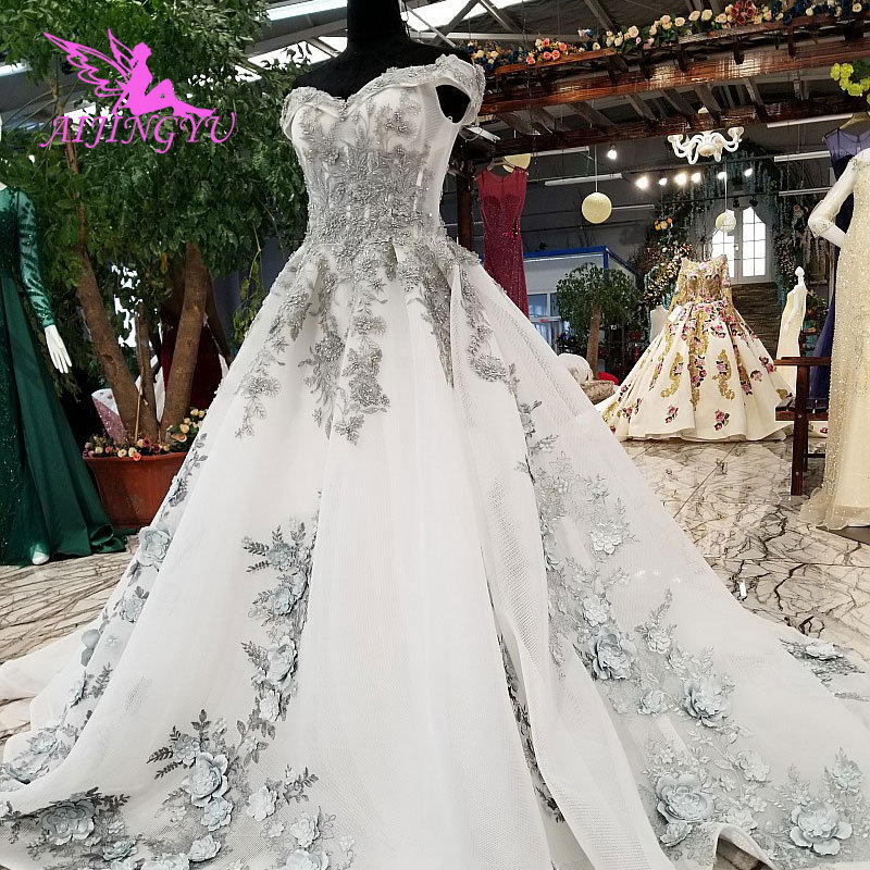 Us 234 0 Aijingyu White Wedding Gowns Hawaiian Gown Indian Branding Ball Pictures Gypsy Dresses Usa Plain Dress In From