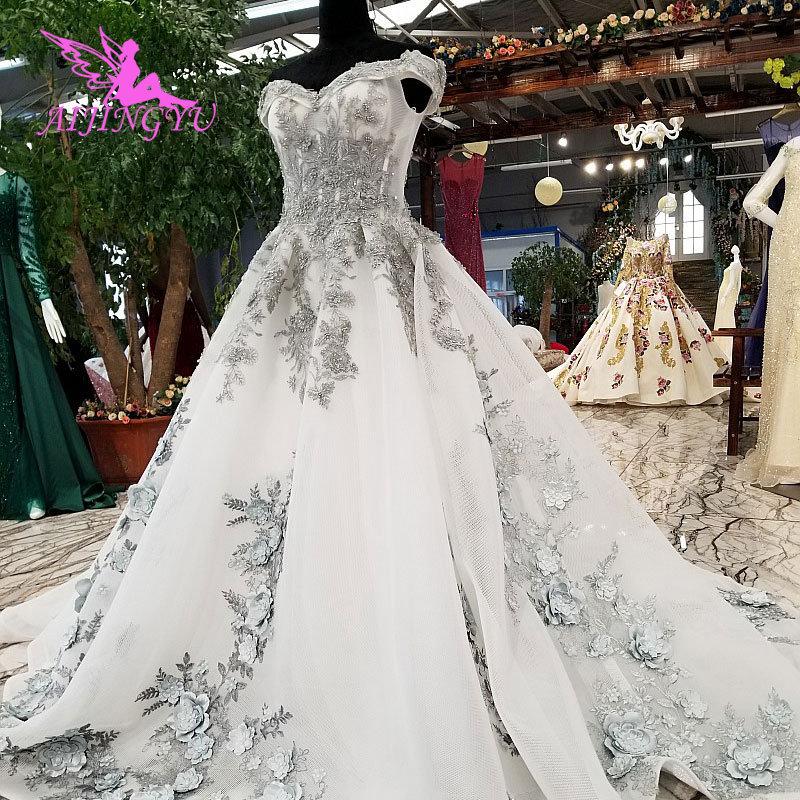 AIJINGYU White Wedding Gowns Hawaiian Gown Indian Branding
