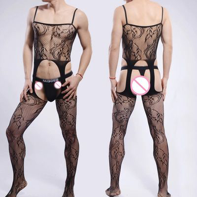Onin men see through fishnet hollow out sissy panties gay lingerie jockstraps bulge pouch briefs underwear