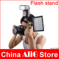 2014 New Hot Shoe Adapter Flash Light Stand Bracket With Double Hot Shoe Mounting Holder Photography Studio Accessories 580EX
