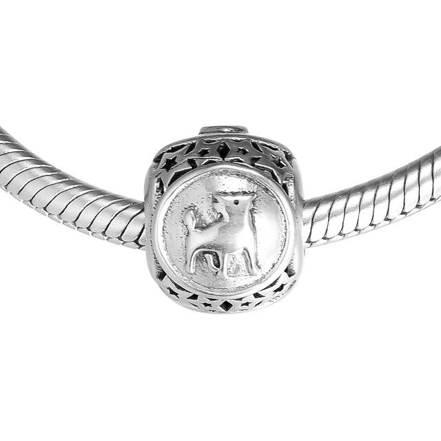 37e8a4960 Taurus Star Sign Charm Beads DIY Fits Pandora Original Charms Bracelet 925 Sterling  Silver Jewelry for Women Men Gift FL416
