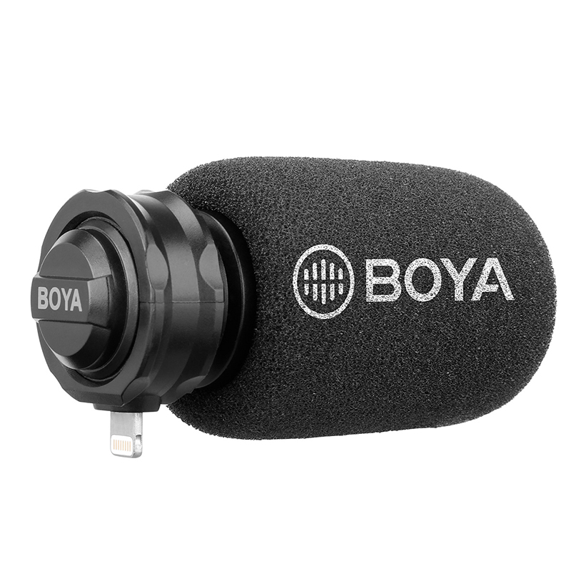 BOYA DM-200 Digital Stereo Mobile Microphone For IPhone Xs Max Xr X 8 7 Plus Condenser Record Microphone For Interview Recording