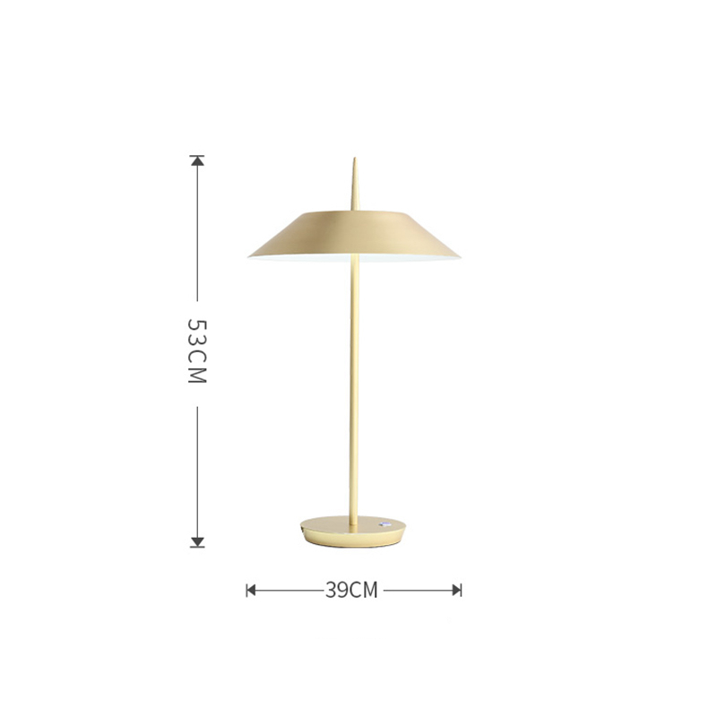 Nordic modern simple black white gold Iron art LED table lamp living room bedroom office study reading and writing lamp in Desk Lamps from Lights Lighting