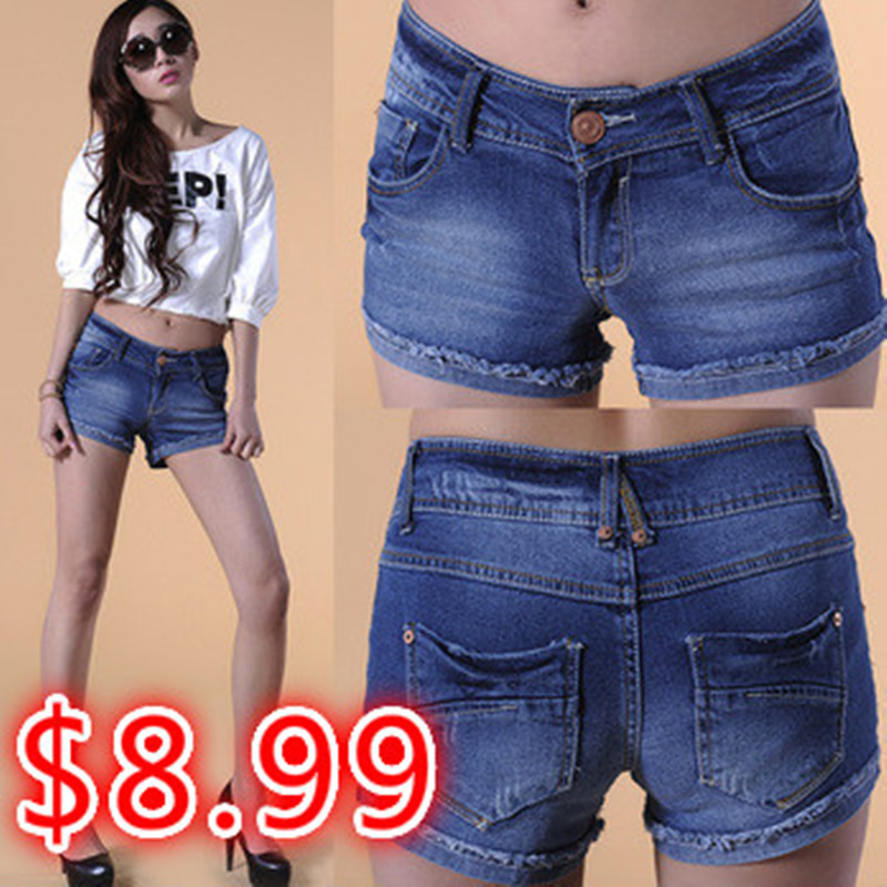 2016 Summer Fashion women's Jeans Stretch Denim Shorts Slim Casual Hot Plus Size - ~!Happy & Little Fort store