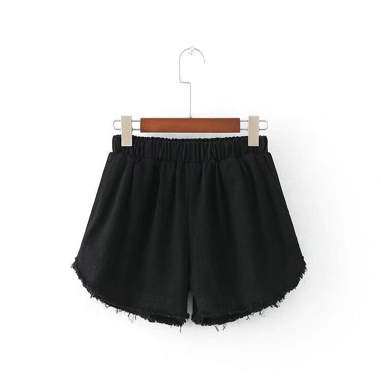 Aliexpress.com : Buy Summer White/Black Denim Shorts Women Elastic ...