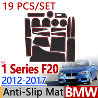 for BMW F20 1 Series 2012 2017 Anti Slip Rubber Cup Cushion Door Mat 9pcs 2012 2015 116 118 120 Accessories Car Styling Sticker
