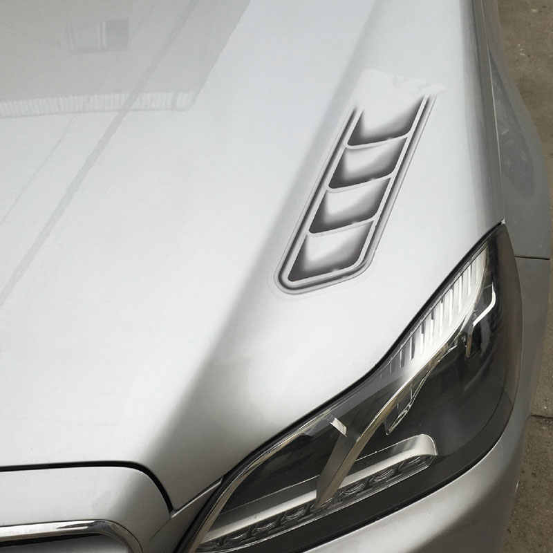 2PCS Vivid 3D Fake Car Decoration Hood Vent Air Sticker Waterproof Decal #5