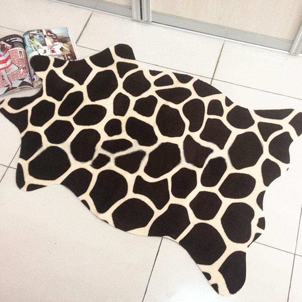 leopard rug Zebra carpet Cowhide Rug Tiger Lion panda wolf Giraffe Deer wild Animal faux skin carpet nonslip anti-skip kids rug