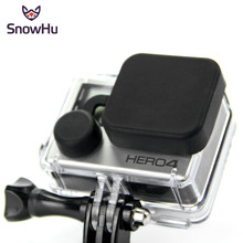 SnowHu for GoPro Accessories Housing Protective Waterproof Case Silicone Lens Cover For Go Pro Hero 4 3+ Camera Black GP118 fisheye lens for go pro 1 2 3 16 megapixel 1 2mm 220 degree super lens for gopro hero 4 3 3 black silver edition accessories