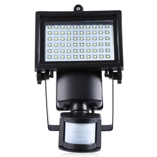 LED Solaire Lampe Pir 60 Led PIR Détecteur de Mouvement Porte Murale