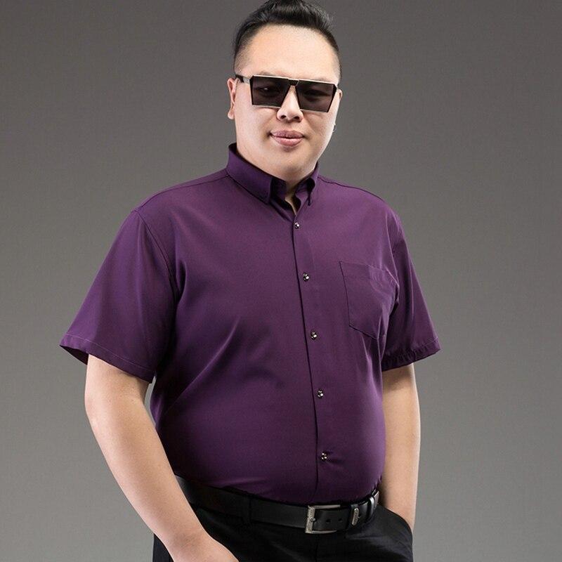 1a51f7b9ddf MFERLIER men short sleeve shirts 11XL 12XL 9XL 10XL Summer wedding Dress  shirts larger plus size big 6XL 7XL 8XL Business cheap-in Casual Shirts  from Men s ...