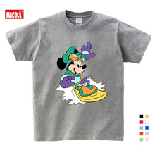 Kids Cartoon Mickey Children's T Shirts Mouse Short Sleeve T-shirt Donald Baby/Boy/Girl t shirt summer O-Neck tee shirt 2-15Y donald weis t t solo rules