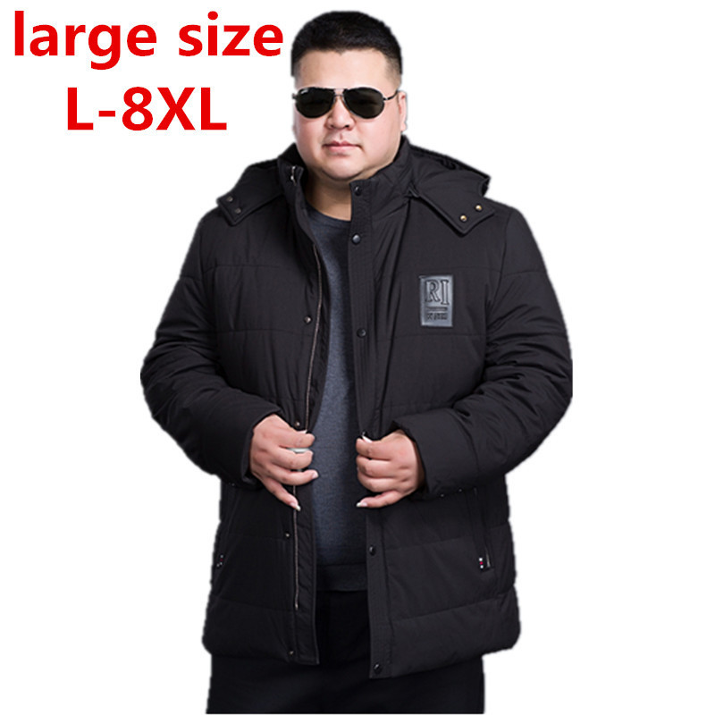 2017 large size 8XL7XL 6XL 5XL Brand Men Winter Padded Jacket Fashion Cotton Polyester Thick Coat Parka With Hood Free Shipping free shipping the new winter 2016 men down jacket brand men s 90% feather coat more men with thick cotton padded jacket m xxxl