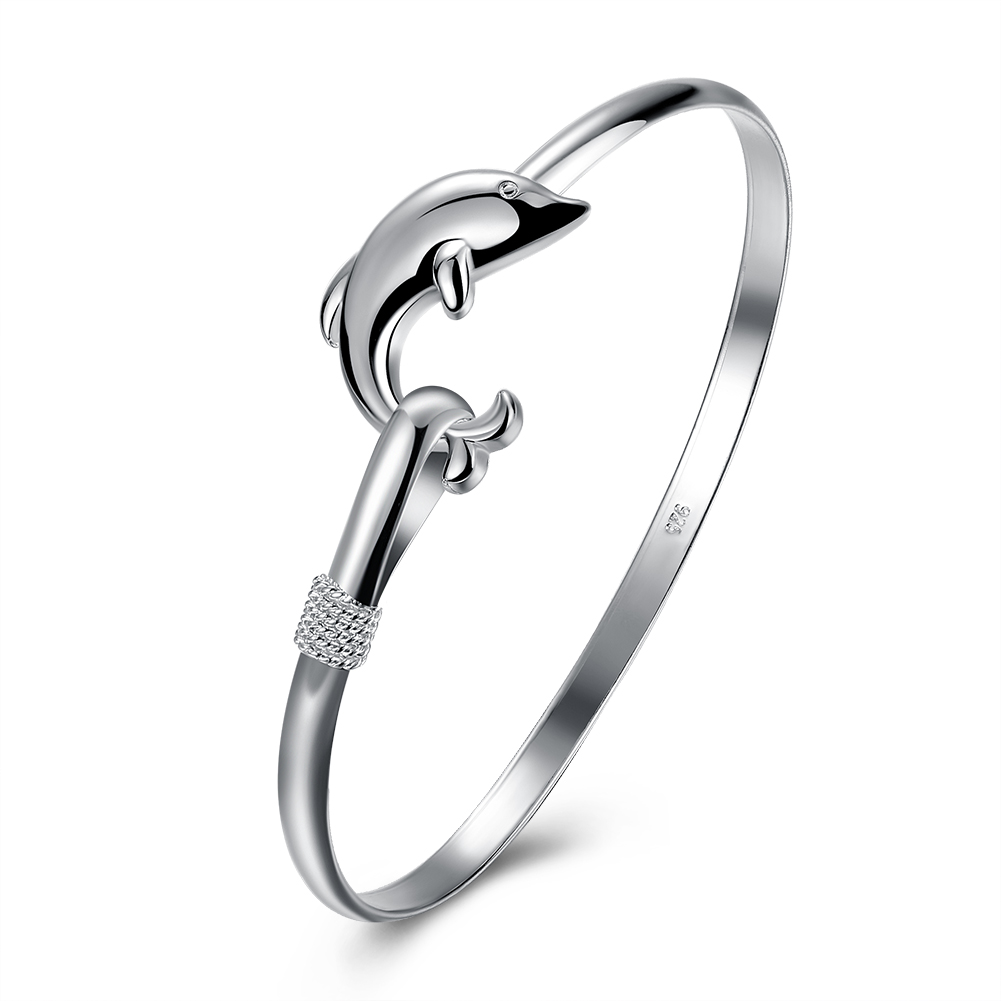 online get cheap career tests com alibaba group hnsp test past latest trendy classic dolphin silver plated cuff bangle for women whole price b178